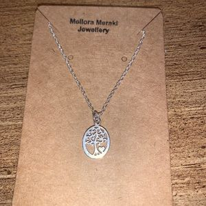 Sterling silver love tree necklace